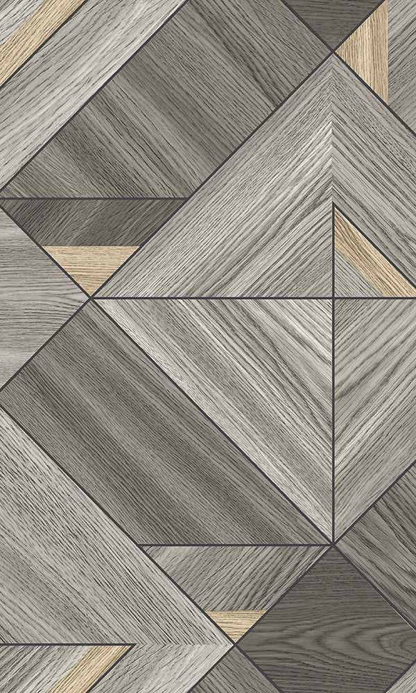 faux wooden diamonds geometric wallpaper