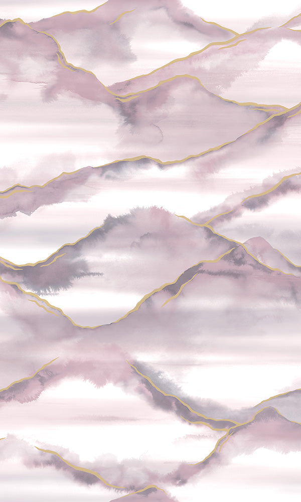 watercolor mountains wallpaper