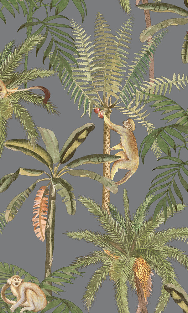 vintage botanical monkeys wallpaper