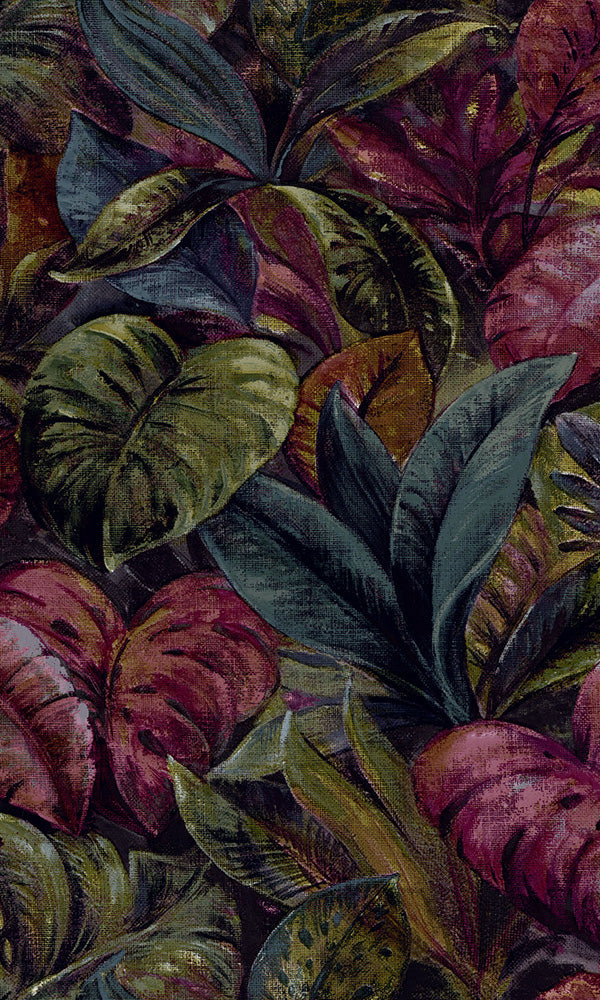 tropical botanical leaves wallpaper