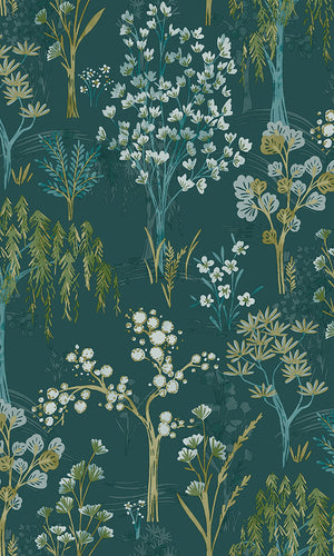 whimsical floral wallpaper