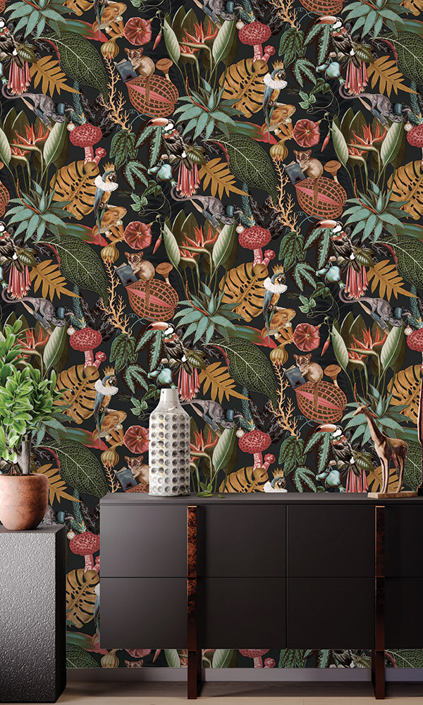 tropical floral wallpaper