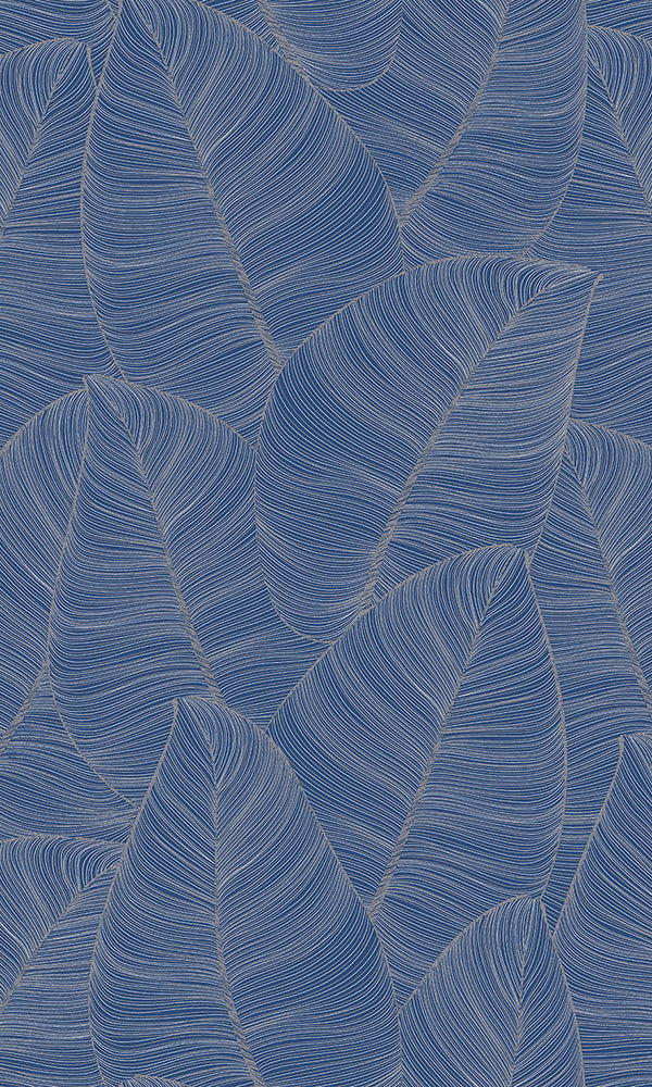 lined tropical leaves wallpaper