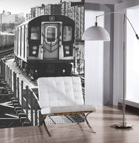 City Love New York Train Wallpaper CL02B