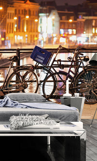 City Love Amsterdam Cyclists Wallpaper CL31A