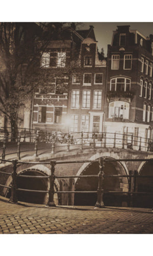 City Love Amsterdam Bridge Wallpaper CL39C