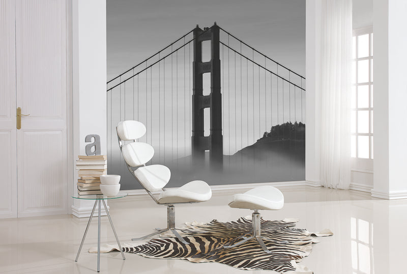 City Love San Fransisco Bridge Under Fog Wallpaper CL40B
