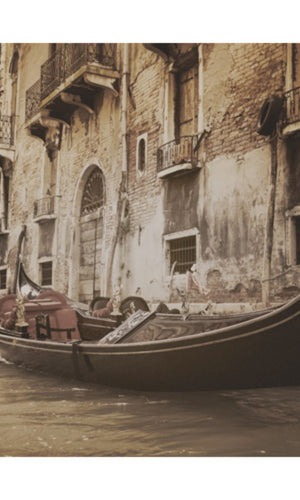 City Love Venice Boat on the River Wallpaper CL45C