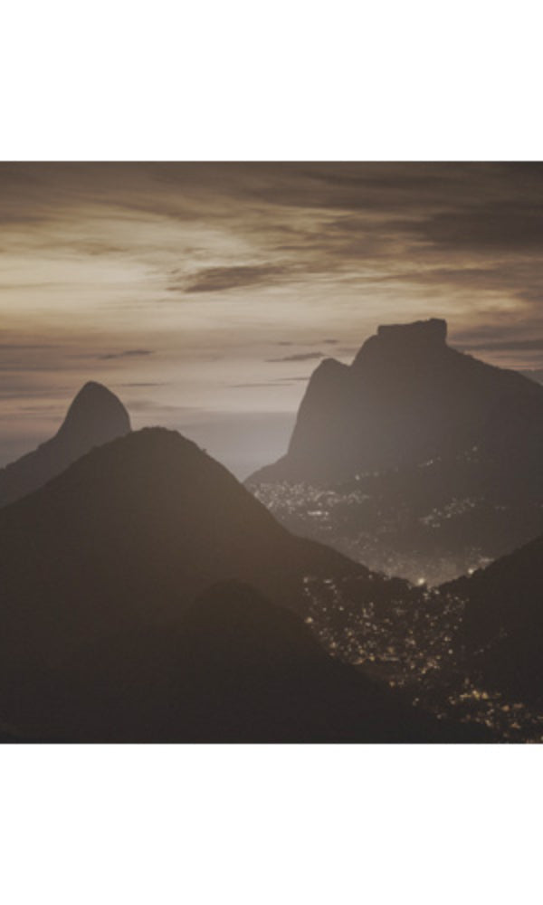 City Love Rio De Janeiro Mountains at Night Wallpaper CL82C