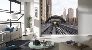 City Love Dubai Train Track Wallpaper CL84A