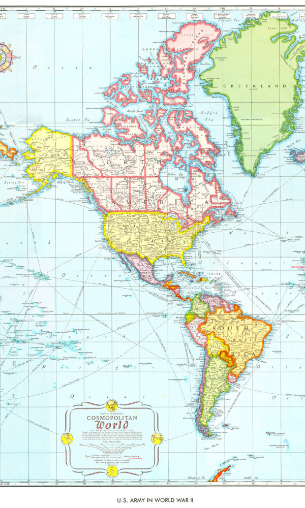 World Maps Cosmopolitan Wallpaper MAP758003
