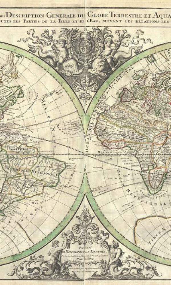 World Maps Hydrographic Map Wallpaper MAP758010