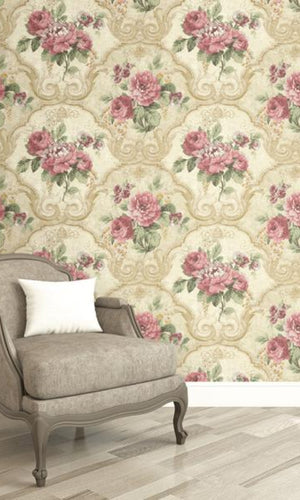 Brockhall Concrete Floral Wallpaper NH20005