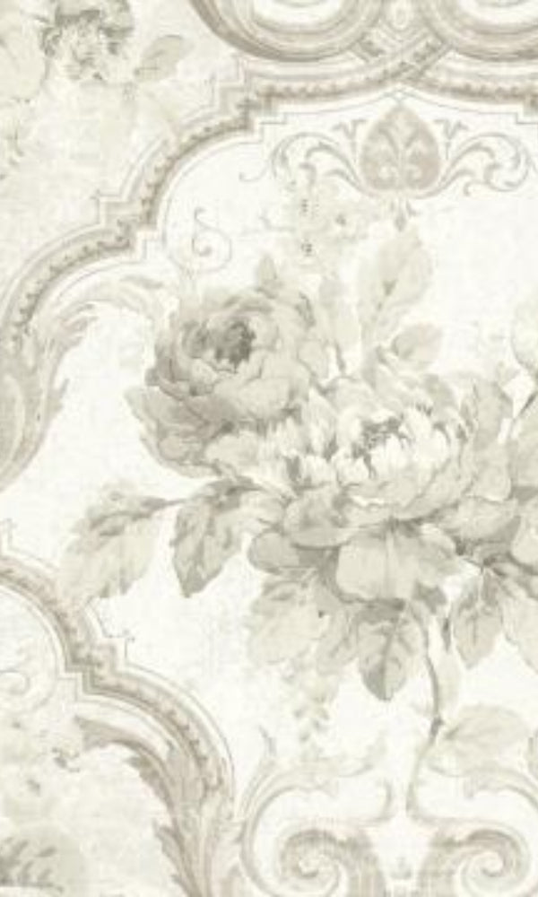 Brockhall Concrete Floral Wallpaper NH20101