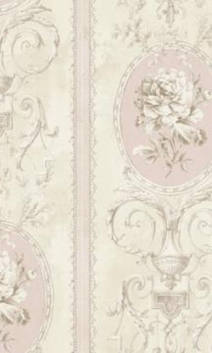 Brockhall Regal Floral Stripes Wallpaper NH20601