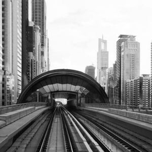City Love Dubai Train Track Wallpaper CL84B