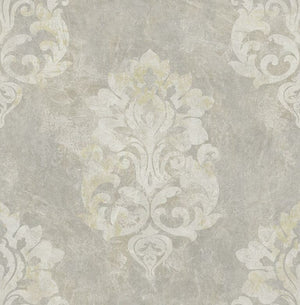 Titanium Weathered Large Damask RM41208