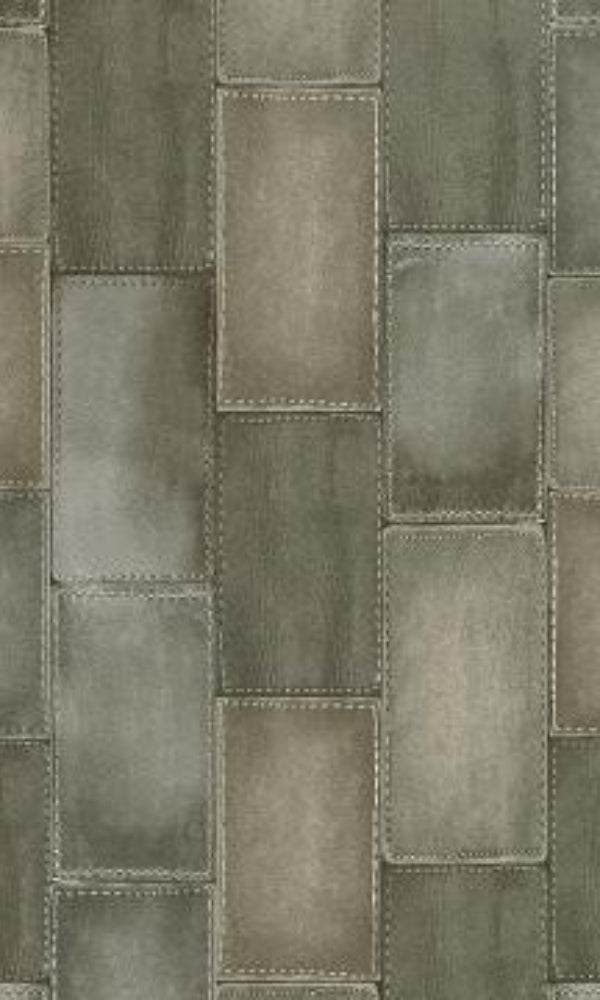 Amelie Patched Leather Wallpaper 475838