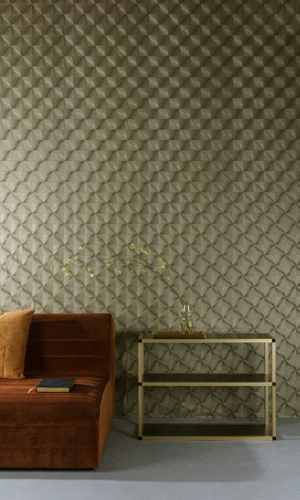 geometric metallic diamonds living room wallpaper canada