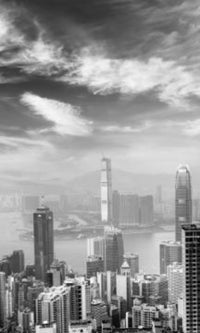 City Love Hong Kong Skyscrapers Wallpaper CL83B