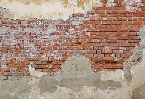 Distressed Peeling Brick Wall Wallpaper 2001032