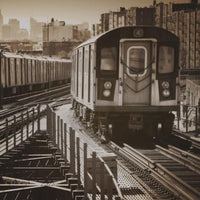 City Love New York Train Wallpaper CL02C