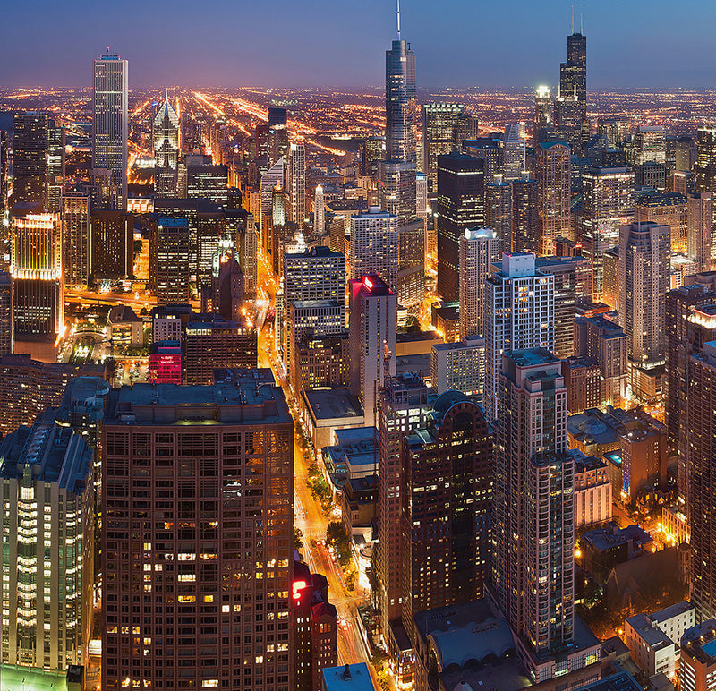 City Love Chicago at Night Wallpaper CL44A