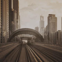 City Love Dubai Train Track Wallpaper CL84C
