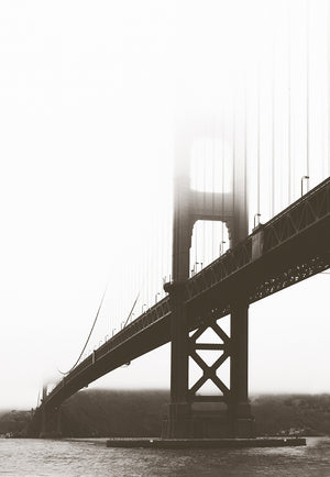 City Love San Fransisco Bridge From Below Wallpaper CL46A
