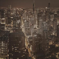 City Love Chicago at Night Wallpaper CL44C