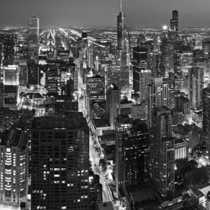 City Love Chicago at Night Wallpaper CL44B
