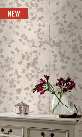 Finca Beige Metallic Veil of Leaves 416626