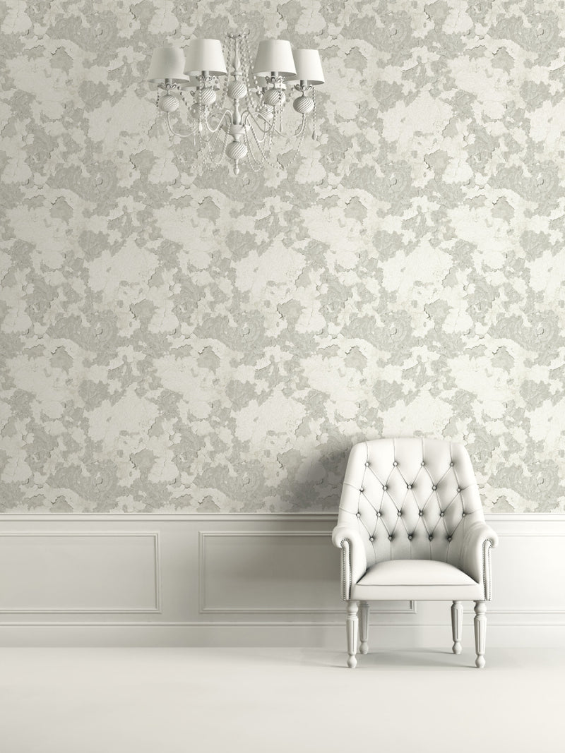 Precious Elements Floral Stucco Wallpaper NH30108
