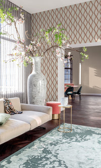 geometric living room wallpaper canada