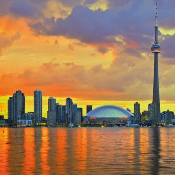City Love Toronto Skyline Wallpaper CL10A