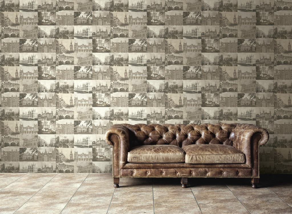 Precious Elements Faded Buildings Wallpaper NH31207