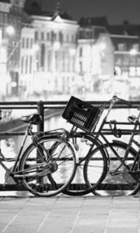 City Love Amsterdam Cyclists Wallpaper CL31B