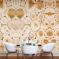 Quattro Wood Logs Wallpaper 457006
