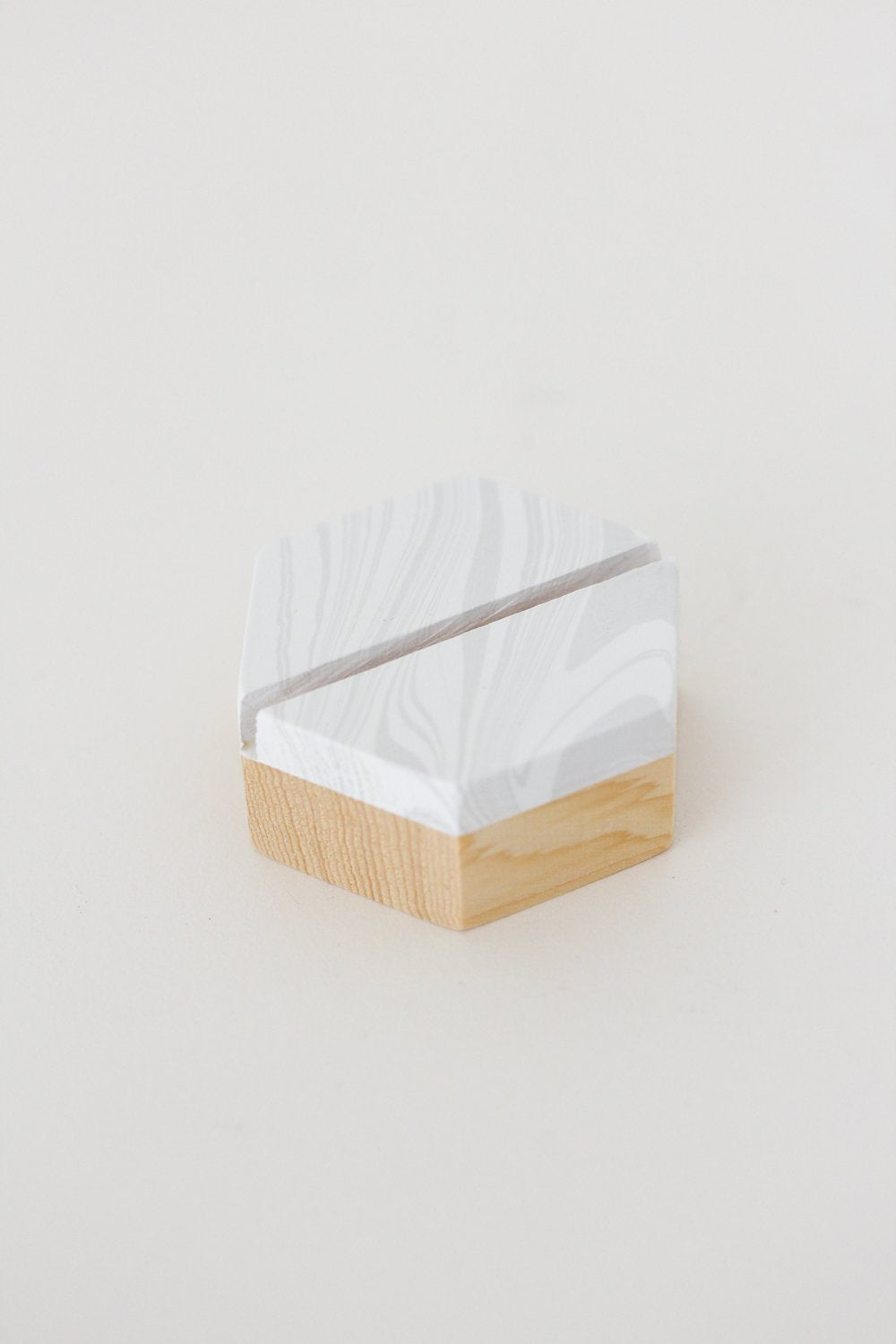 Marbleized Wooden Place Card Holders (Set of 6)