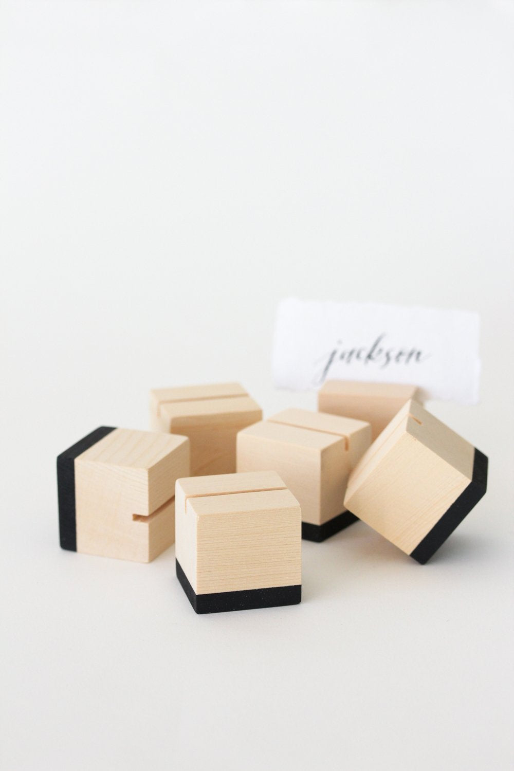 Cedar Cube Place Card Holders (Set of 6)