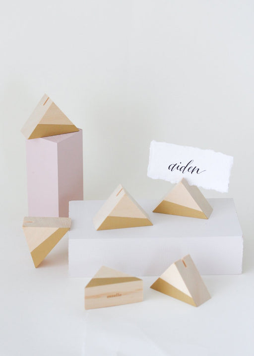 Cedar Triangle Place Card Holders (Set of 6)