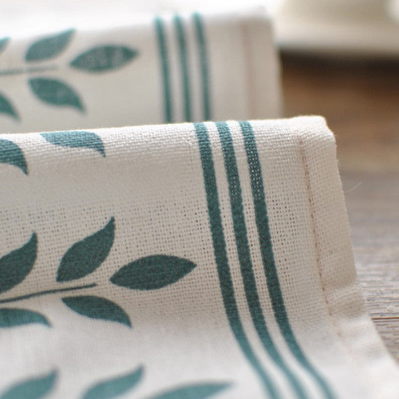 Cotton Linen Printed Tea Towel