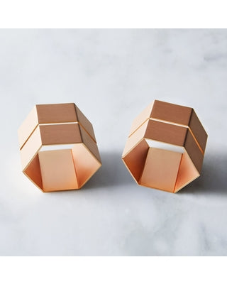 Hexagon Rose Gold Napkin Ring