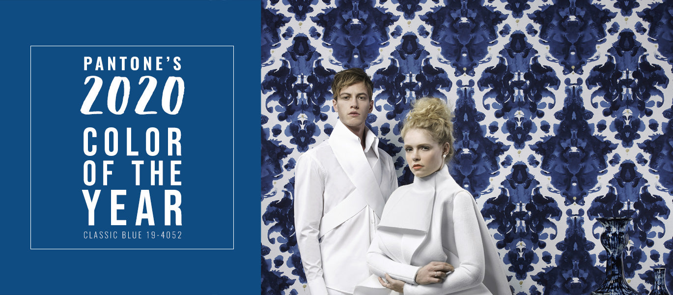 Pantone's color of the year classic blue wallpaper