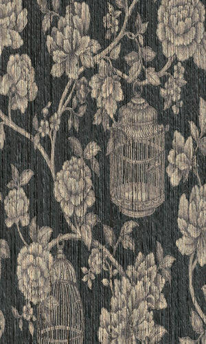 Seraphine Floral Yarn Wallpaper 076591
