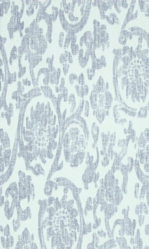 Denim Orbital Damask Wallpaper 17609