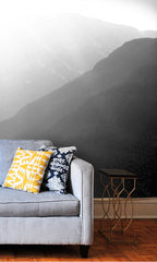 Curated Bespoke Murals Watercolor Mountains Wallpaper 2001004