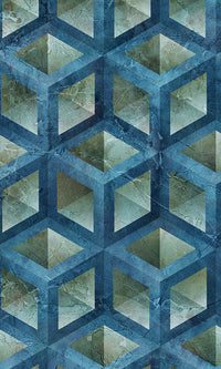 Weathered Geometric Grungy Cubes Wallpaper 2001038