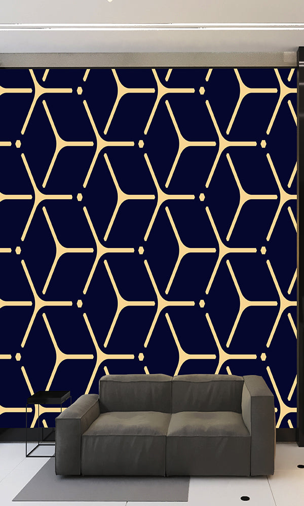 Geometric Rounded Cube Pattern Wallpaper 2001041