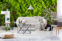 overgrowth cushion moss living wall wallpaper mural